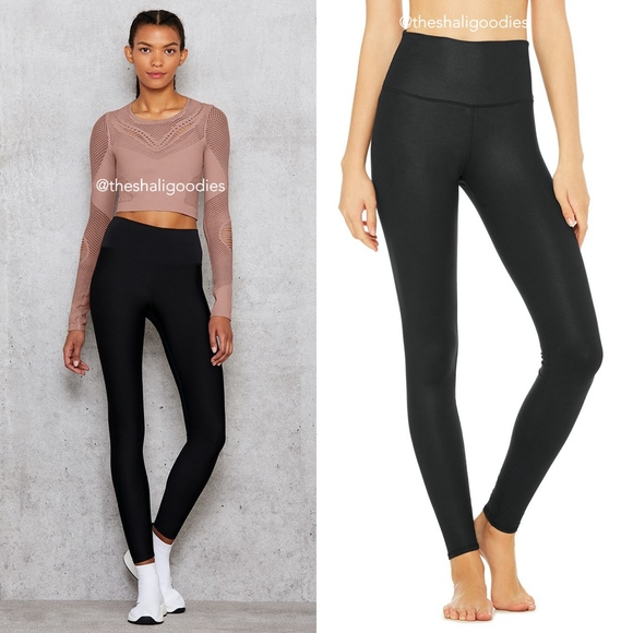 ALO Yoga Pants - ALO YOGA Black High Waist Airlift Airbrush Legging